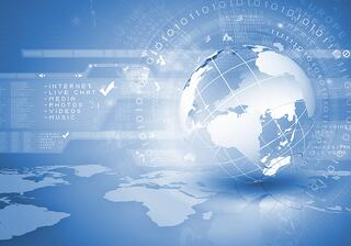 Blue digital image of globe. Background image.jpeg