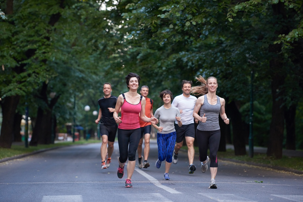people group jogging: How top CEOS start their day